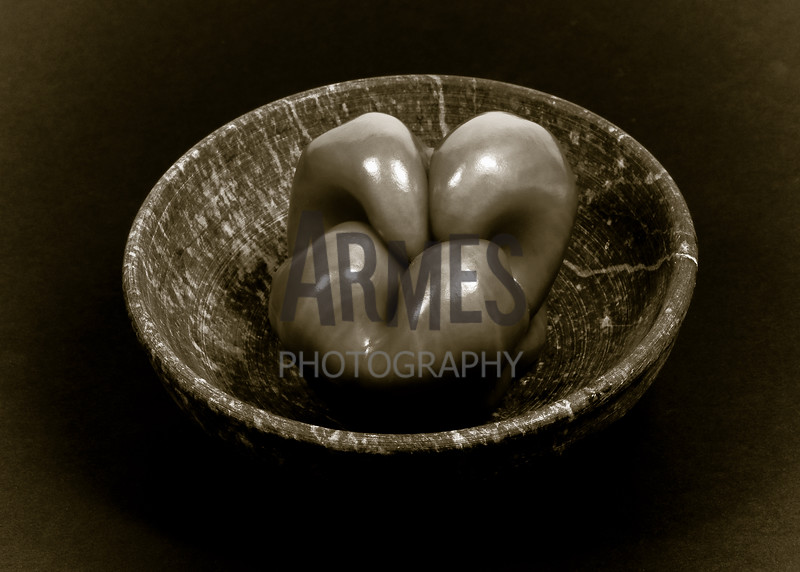 Pepper and Bowl<br /> (inspired by the great American photographer Edward Weston)