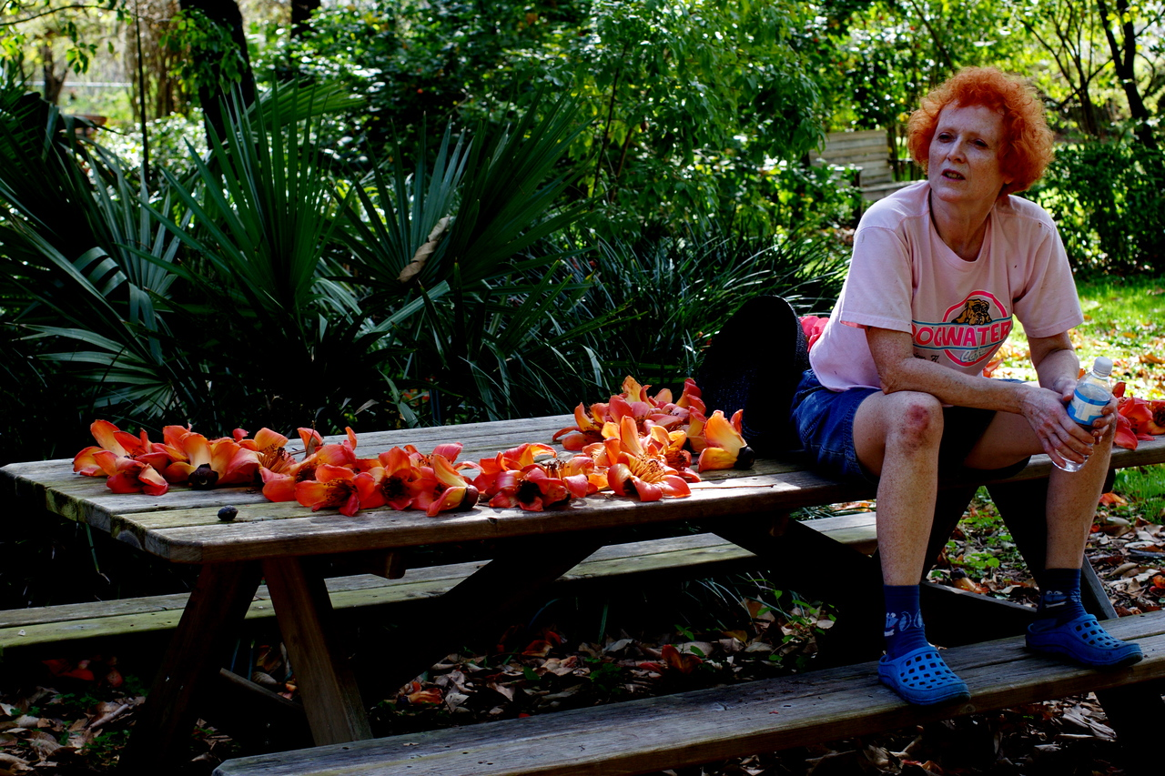 One of the volunteers at  USF Botancial Gardens that contributes time to ensure the gardens always look lovely.