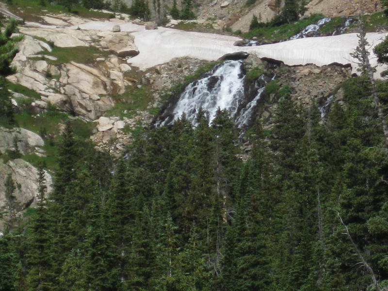 Hike to Lake Isabelle, Colorado July 18, 2009 - waterfall from lake isabelle snow mass5