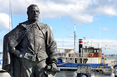 George Cleeve statue at Portland Yacht Services