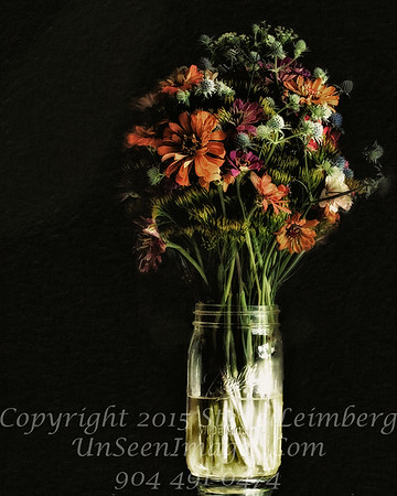 Becky's Flowers - II PAINTING - Copyright 2016 Steve Leimberg - UnSeenImages