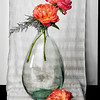 Peonies in Bottle II - Copyright 2015 Steve Leimberg - UnSeenImages Com A8438664