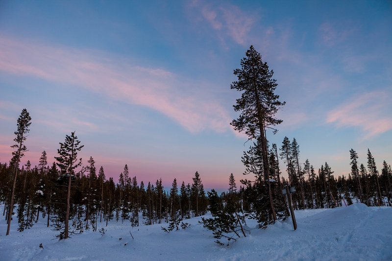 Swampy Lakes Sno-Park Sunset