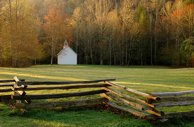 Palmer Chapel at Cataloochee, Great Smoky Mountains.