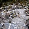 Trepper av tunge steinblokker