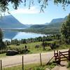 Utsikt fra Gjevilvasshytta etter en 3-dagers spasertur - fantastisk! :)