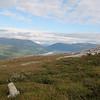 Utsikt retning gråsjøen og Surnadal. Langt der nede ligger Trollheimshytta, der vi startet denne dagen...