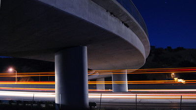 Lebec Overpass at night on Interstate 5