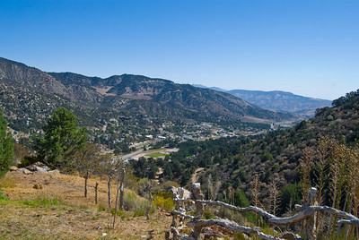 View of Frazier Park California from the south west looking east.