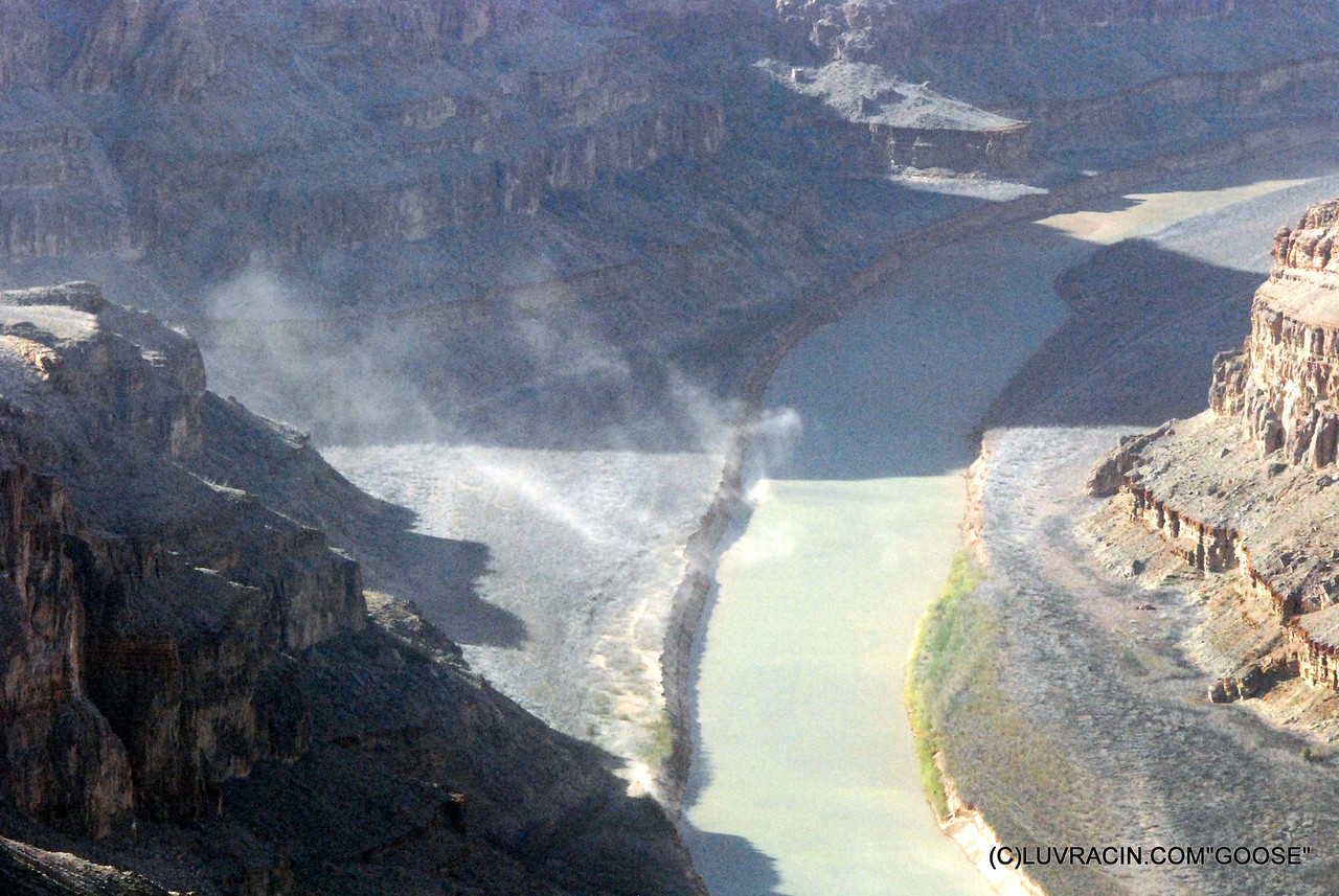 A WINDY DAY A DUST STORM AT THE RIVER GRAND CANYON USA