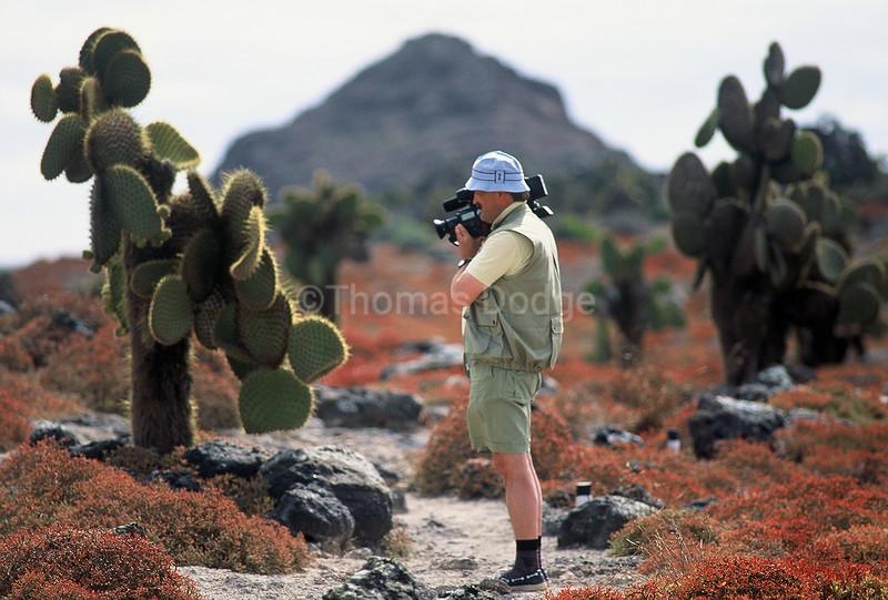 German tourist on trail.