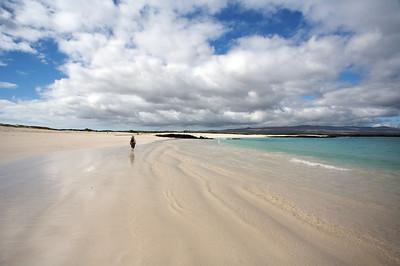 Beach with human