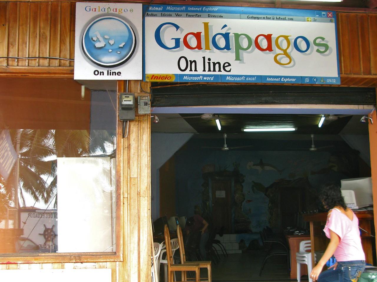 Internet cafe with familiar logo/color scheme