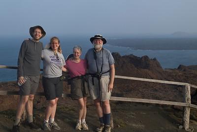 Family at summit of Bartolome