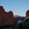 I like this view of the sunrise on Pikes Peak a little better than the previous shot.