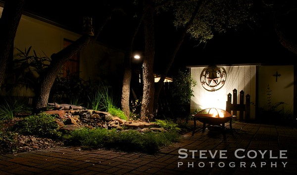 An evening in the garden.