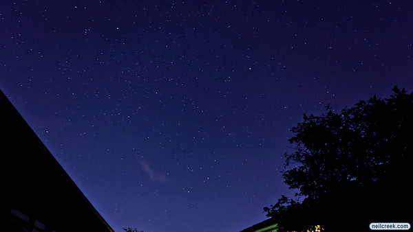 This is a time lapse video compiled from the approximately 150 photos I took when trying to capture the Geminid meteor shower. You should be able to see a few of the meteors in the sequence.