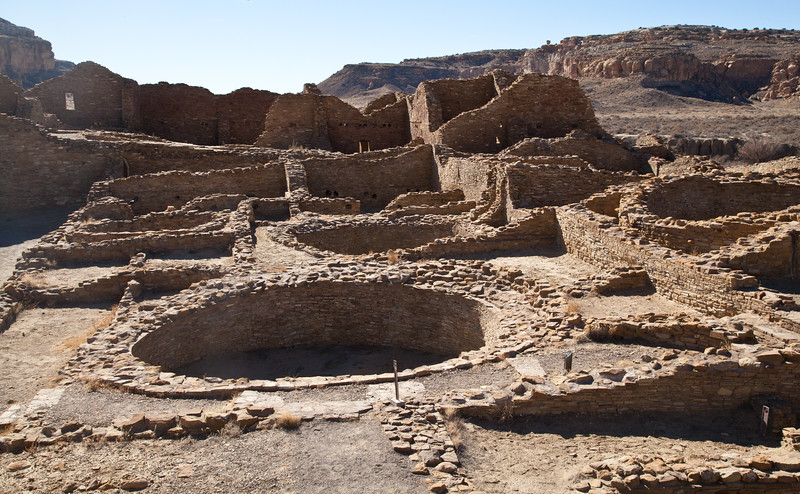 The main ceremonial area of Chaco Canyon, North East of Gallup, New Mexico