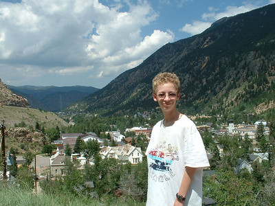 2006 - Tony's first trip to Georgetown and on the Georgetown Loop RR - Tony looking down on Georgetown from Guanella Pass