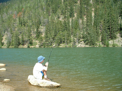 2007 - Clear Lake on Guanella Pass near Georgetown, CO - Tony really wants to get that trout