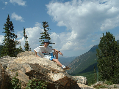 2007 - Guanella Pass near Georgetown, CO - Tony on a rock on Guanella Pass