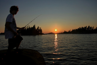 Silouette of Cole Fishing 1