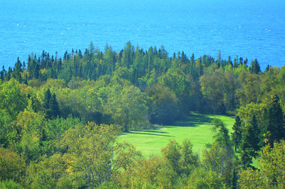 Terrace Bay Golf Course # Nine Fairway  Waters and Waves Sculpting the North Shore of Lake Superior