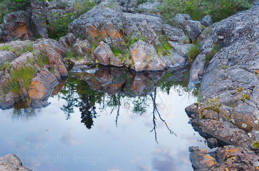 A Stagnant Rocky Pond On Lake Superior's Rocky Coast