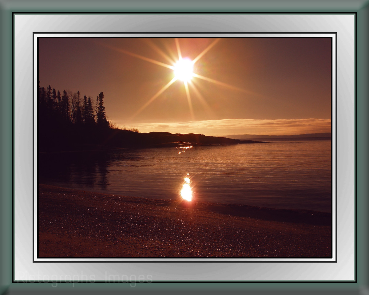 A Lake Superior, Secret Beach  Landscape Sunrise, Rictographs Images