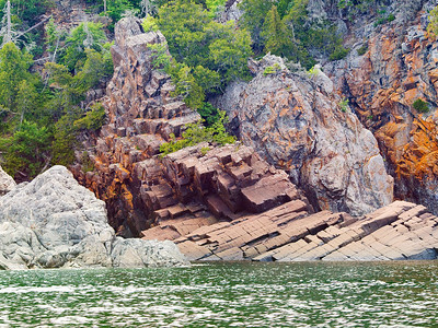 A Lake Superior Rocks Image, Rictographs Images