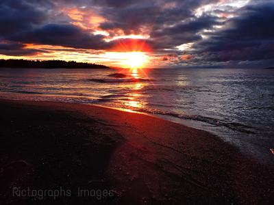 Beach Sun Rise, Terrace Bay, Ontario, Canada