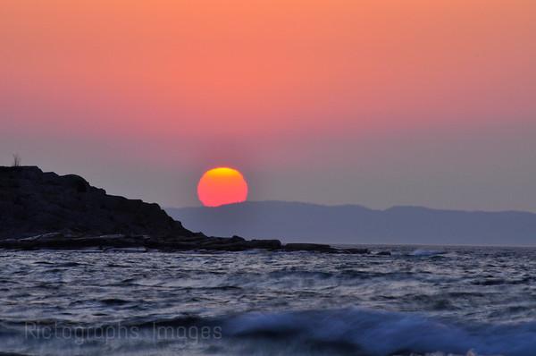 Sun Rising, Lake Superior