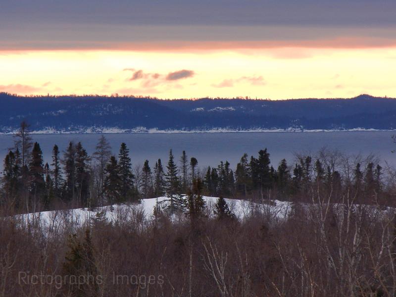Lake Superior Shoreline with the Slate Islands