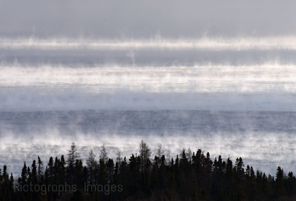 Steamy Cold Lake Superior