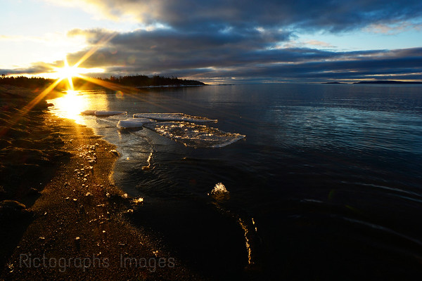 The Beach, Terrace Bay, Ontario, Canada, Rictographs