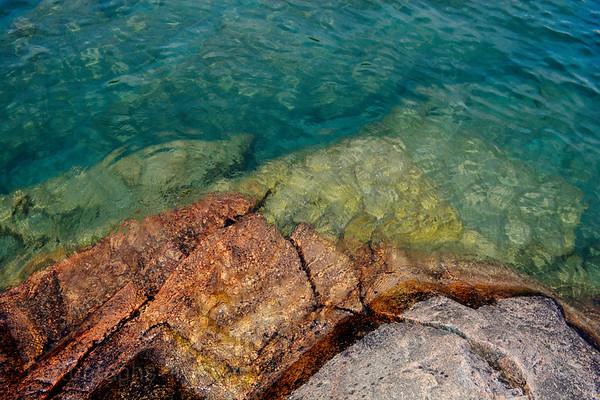 Beautiful Lake Superior, Rocks, Summer 2017