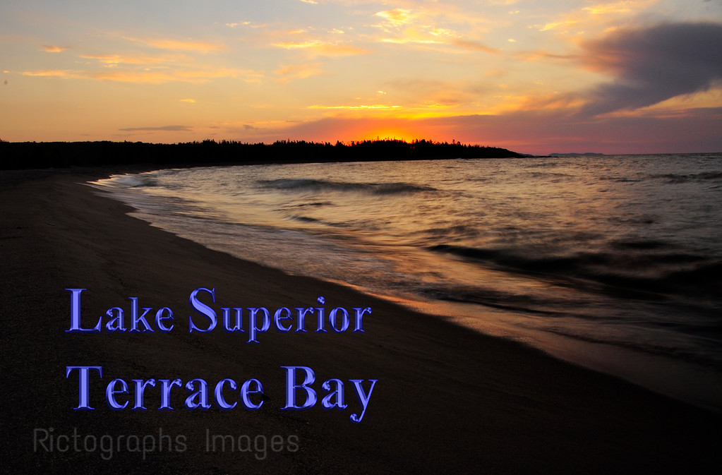 The Beach, Lake Superior, Terrace Bay, Ontario, Canada