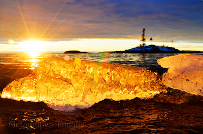 Lake Superior, Icy Sunrise,
