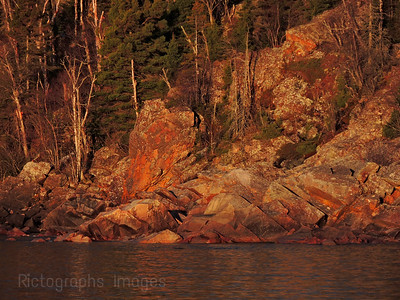 Rugged Shores Of Lake Superior, Rictographs Images
