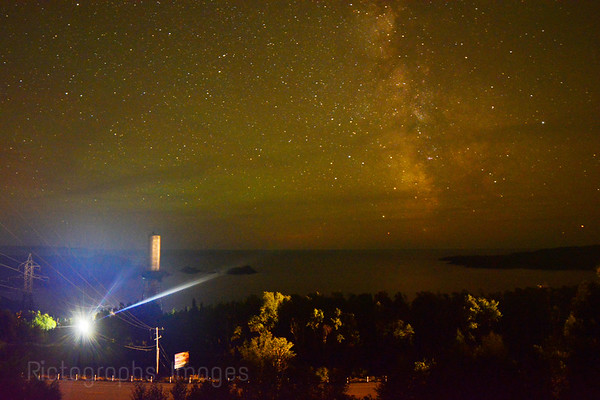A Long Exposure Night Photo Of Lake  Superior, Rictographs Images