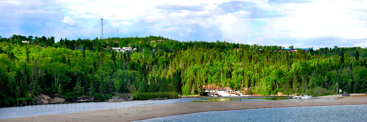 Aguasabon River & Lake Superior, Terrace Bay, Ontario, Canada