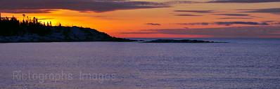 Lake Superior, Sunrise, Terrace Bay, Ontario, Canada