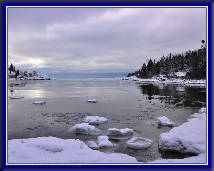 Icy Lake Superior Shoreline