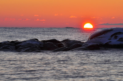Lake Superior, sunrise,photography,rictographs,rocks,water,blue,nature, pink, 075