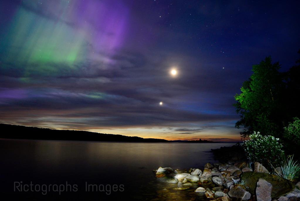 Aurora Borealis; Terrace Bay, Ontario; Canada