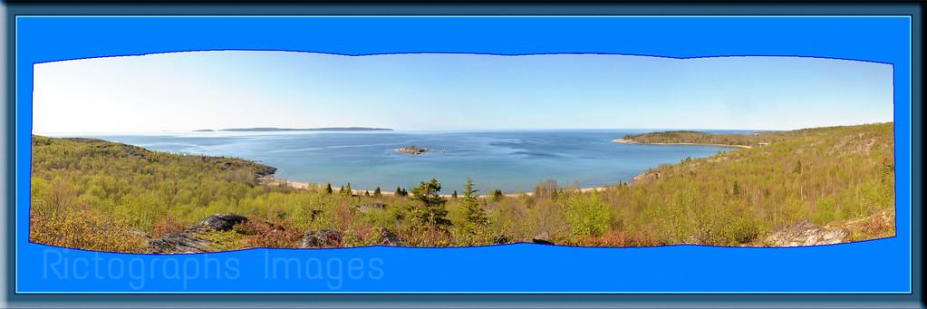 Lake Superior Panorama, Terrace Bay, Ontario, Canada