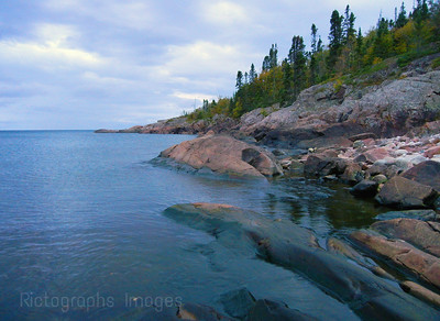 The Rocks Here Have Been Deformed By The Last Ice Age Glaciers Waters and Waves Sculpting the North Shore of Lake Superior