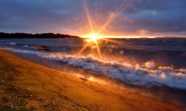 The Beach, Terrace Bay, Ontario, Canada, Sunrise, 2016