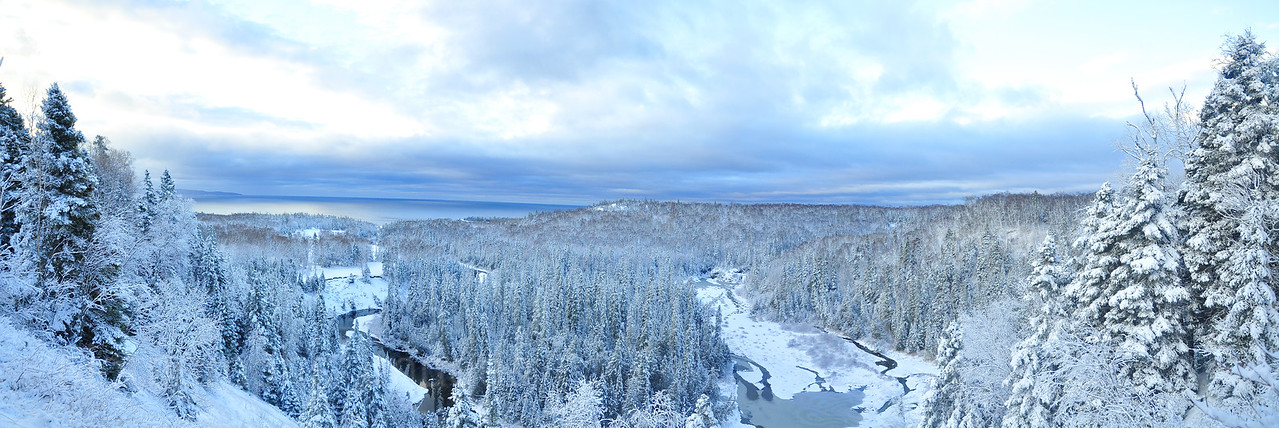 Winter Boreal Waters and Waves Sculpting the North Shore of Lake Superior