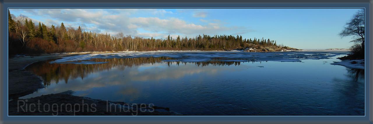 Danny's Cove, Lake Superior,Casque Isles Hiking Trail, Ontario, Canada, Spring 2014,